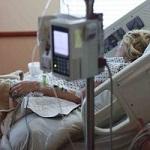 medizinische Behandlung, Patient im Bett
